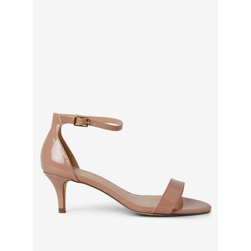 Dorothy Perkins - Nude Sunset Kitten Heel Sandals