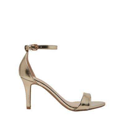 Dorothy Perkins - Gold stella mid heel sandals