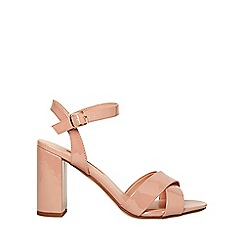 Dorothy Perkins - Nude serena patent crossover sandals