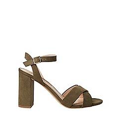 Dorothy Perkins - Khaki serena block heel sandals