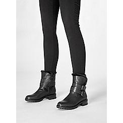 Dorothy Perkins - Black arctic biker boots