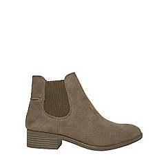 Dorothy Perkins - Taupe monty chelsea boots