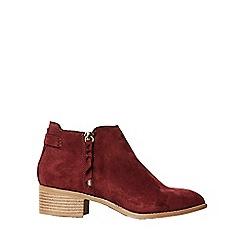 Dorothy Perkins - Burgundy major ankle boots