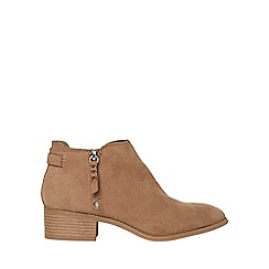 Dorothy Perkins - Taupe major ankle boots