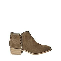 Dorothy Perkins - Khaki major ankle boots