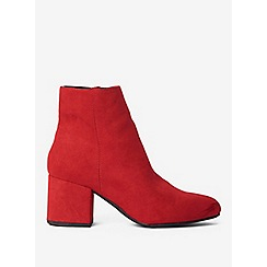 Dorothy Perkins - Red aubree block heel ankle boots