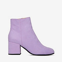 Dorothy Perkins - Lilac microfibre aubree ankle boots