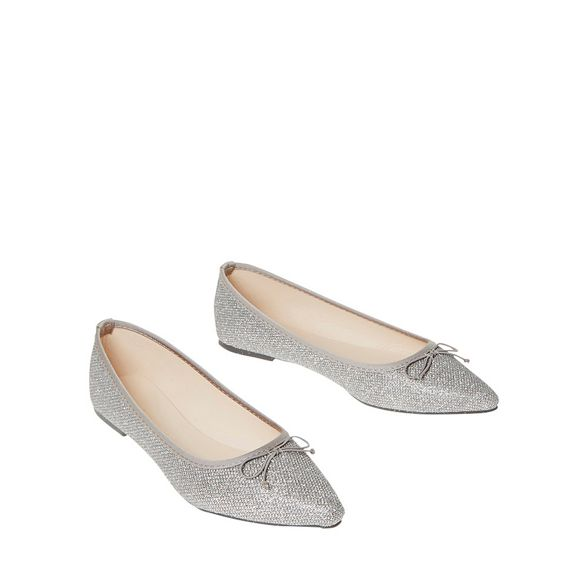 Grey Perkins textured metallic penny pumps Dorothy d5xRqd