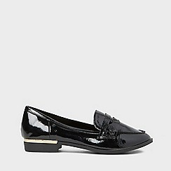 Dorothy Perkins - Black patent lulu loafers