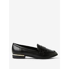 Dorothy Perkins - Black faux crocodile design lulu loafers