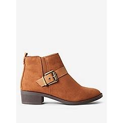 Dorothy Perkins - Tan mayhem side buckle boots