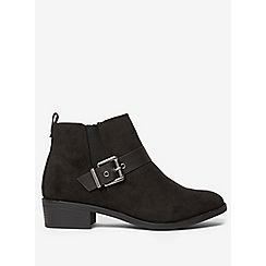 Dorothy Perkins - Black mayhem buckle boots