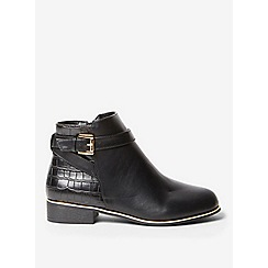 Dorothy Perkins - Black mayan faux-croc  ankle boots