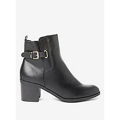 Dorothy Perkins - Black arena buckle heel boots