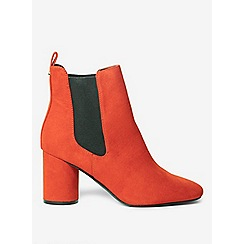 Dorothy Perkins - Rust apricot round heel ankle boots