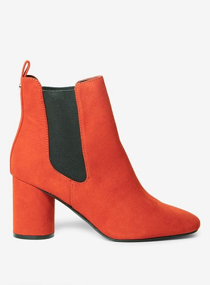 Dorothy Perkins heel round Rust ankle boots apricot p8frpqxw