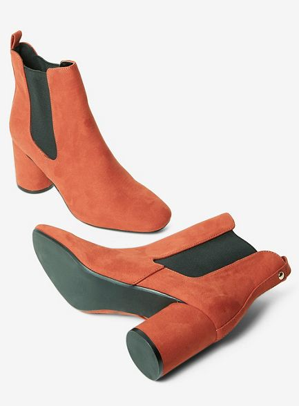boots Rust round ankle Perkins apricot Dorothy heel ZHYFYq