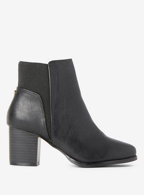 Dorothy Perkins   Black Avenue Block Heel Boots by Dorothy Perkins
