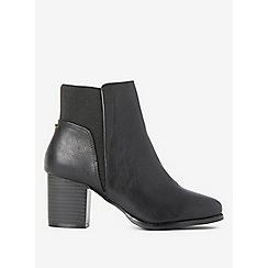 Dorothy Perkins - Black avenue block heel boots