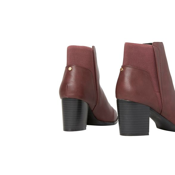 Burgundy Dorothy ankle Perkins heeled boots avenue 7758r