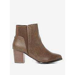 Dorothy Perkins - Chocolate avenue heeled boots