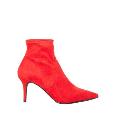 Dorothy Perkins - Red motion sock boots