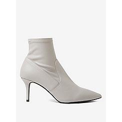 Dorothy Perkins - Grey polyurethane motion kitten heel sock boots