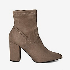 Dorothy Perkins - Grey asher studded sock ankle boots