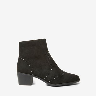 Dorothy Perkins   Black Marvel Studded Western Boots by Dorothy Perkins