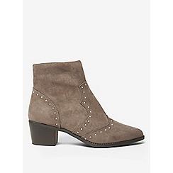 Dorothy Perkins - Grey marvel studded western boots