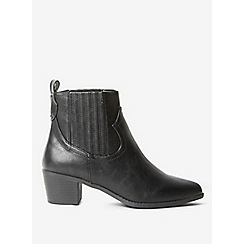 Dorothy Perkins - Black macqueen western boots