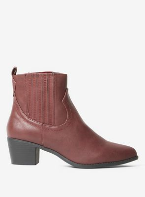 Dorothy western Perkins - Burgundy macqueen western Dorothy boots 233b22