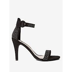 Dorothy Perkins - Black Bobbi silver studded sandals