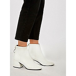 Dorothy Perkins - White adore heeled boots