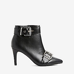 Dorothy Perkins - Black accent buckle boots
