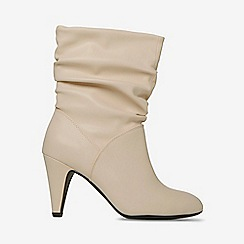 Dorothy Perkins - Bone kylie ruched boots
