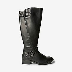 Dorothy Perkins - Black polyurethane torrance rider boots