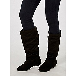 Dorothy Perkins - Black microfibre twister slouch boots