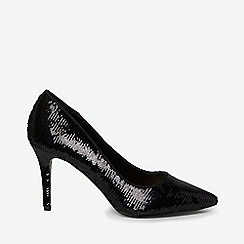 Dorothy Perkins - Black ezzy sequin court shoes