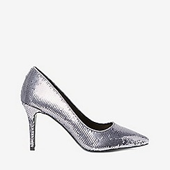 Dorothy Perkins - Silver pewter ezzy sequin court shoes