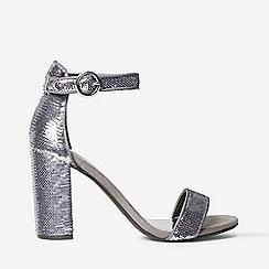 Dorothy Perkins - Pewter shimmy block heel sandals