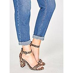 Dorothy Perkins - Leopard shimmy block heel sandals
