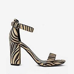 cfc80f48e278 Dorothy Perkins - Zebra print  shimmy  block heel sandals