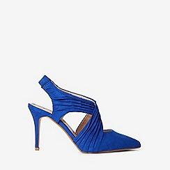 Dorothy Perkins - Blue microfiber espresso court shoes