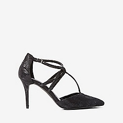 Dorothy Perkins - Black snake gloss court shoes