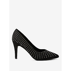Dorothy Perkins - Black glare embellished court shoes