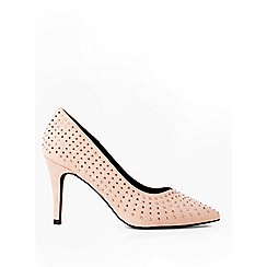Dorothy Perkins - Nude glare embellished court shoes