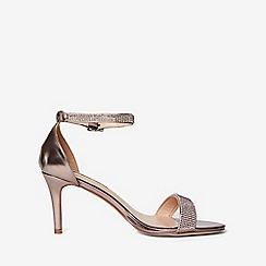 Dorothy Perkins - Pewter bling heeled sandals