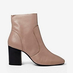 Dorothy Perkins - Putty abstract leather ankle boots
