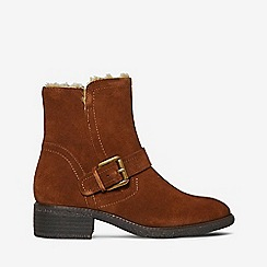 Dorothy Perkins - Brown leather action biker boots